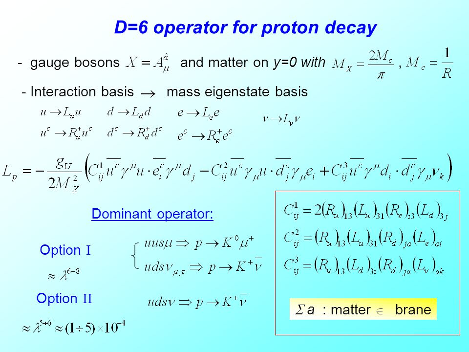 D=6 operator for proton decay