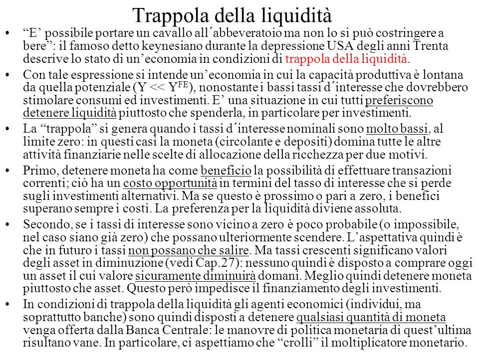 Trappola della liquidità