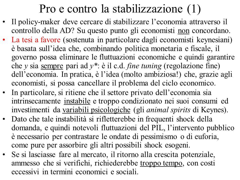 Pro e contro la stabilizzazione (1)
