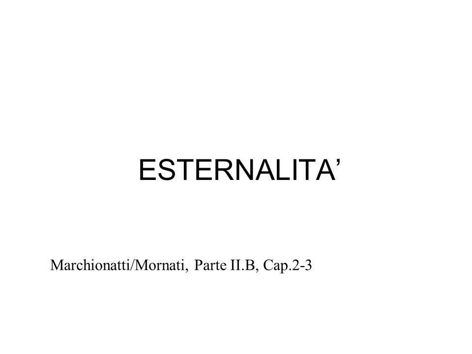 ESTERNALITA' Marchionatti/Mornati, Parte II.B, Cap.2-3 1 1