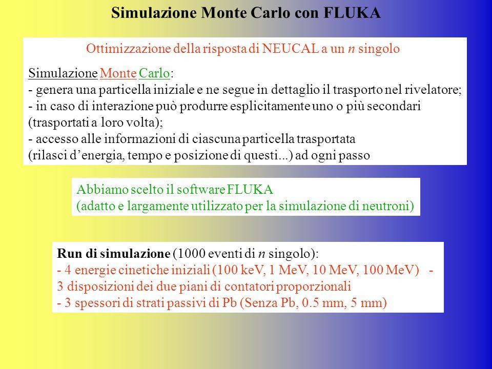 Simulazione Monte Carlo con FLUKA