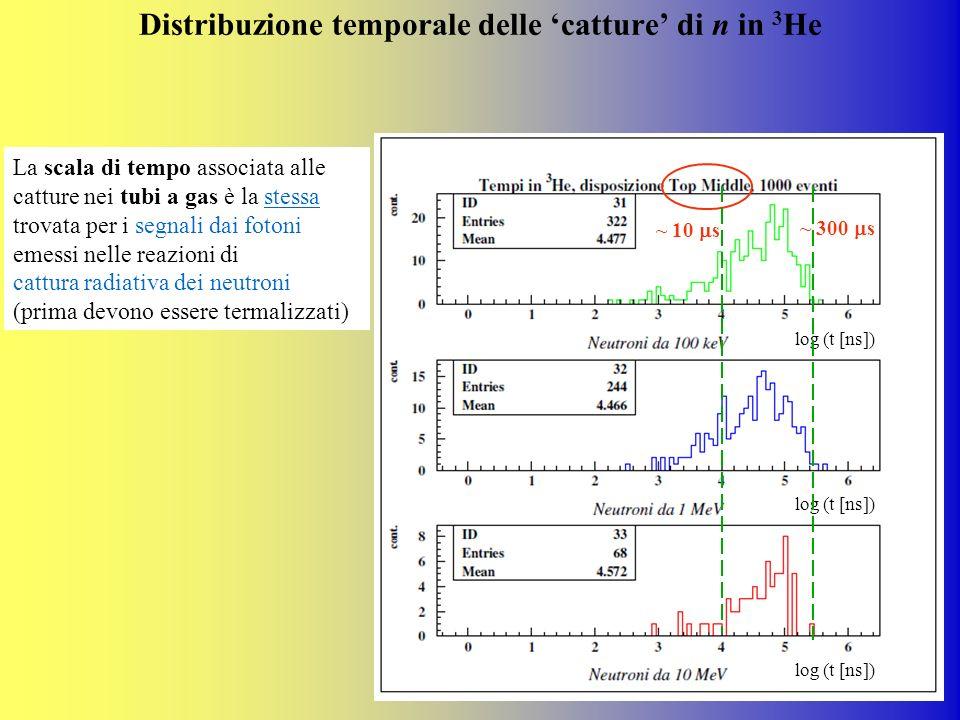 Distribuzione temporale delle 'catture' di n in 3He
