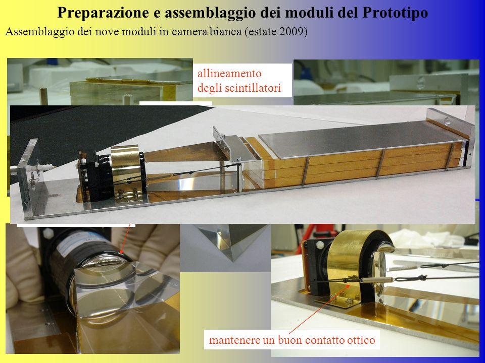 Preparazione e assemblaggio dei moduli del Prototipo