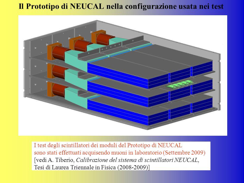 Il Prototipo di NEUCAL nella configurazione usata nei test