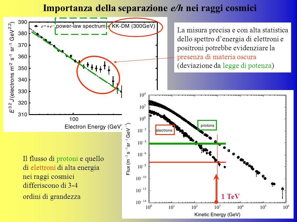 Importanza della separazione e/h nei raggi cosmici