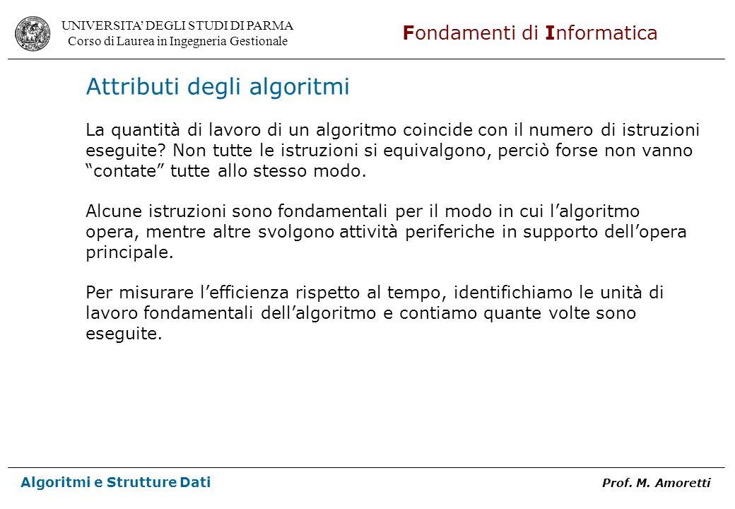 Attributi degli algoritmi
