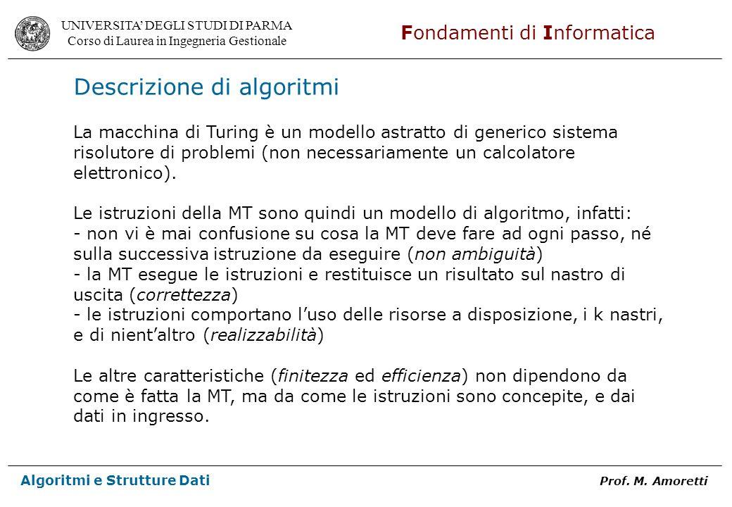 Descrizione di algoritmi