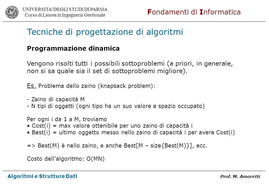 Tecniche di progettazione di algoritmi
