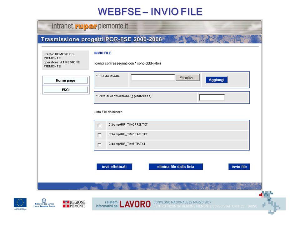 WEBFSE – INVIO FILE