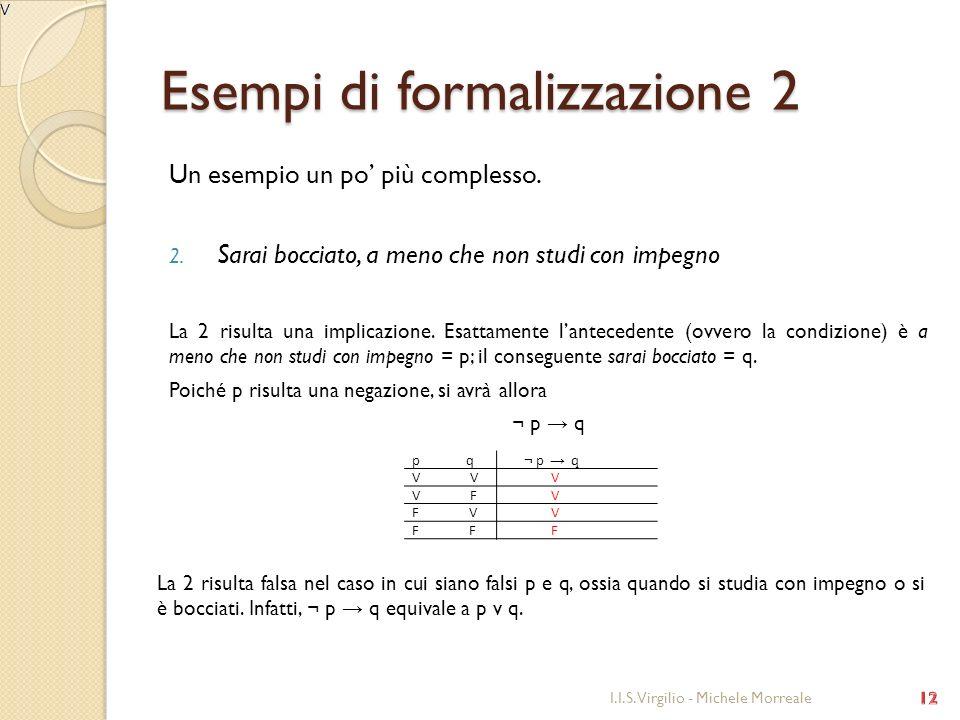 Esempi di formalizzazione 2
