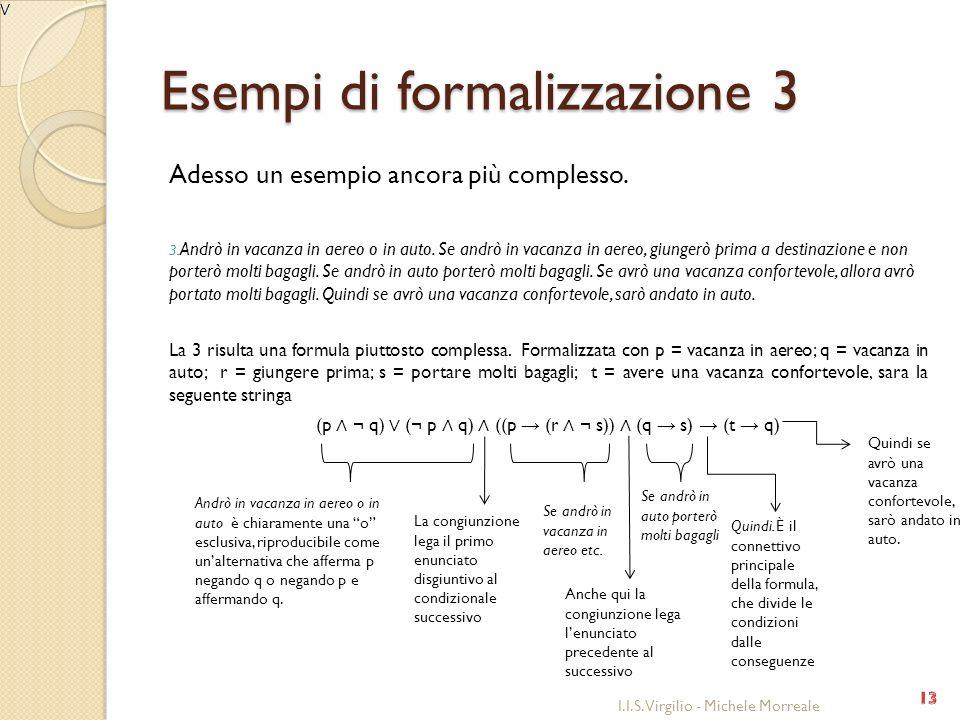 Esempi di formalizzazione 3