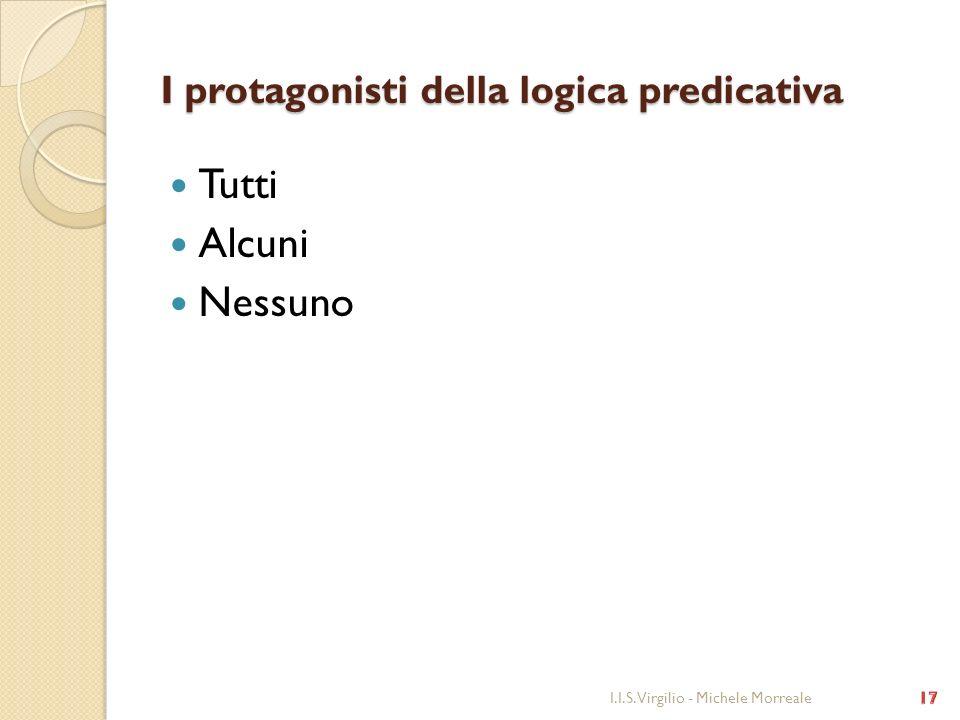 I protagonisti della logica predicativa