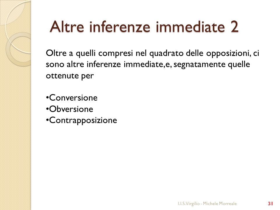Altre inferenze immediate 2