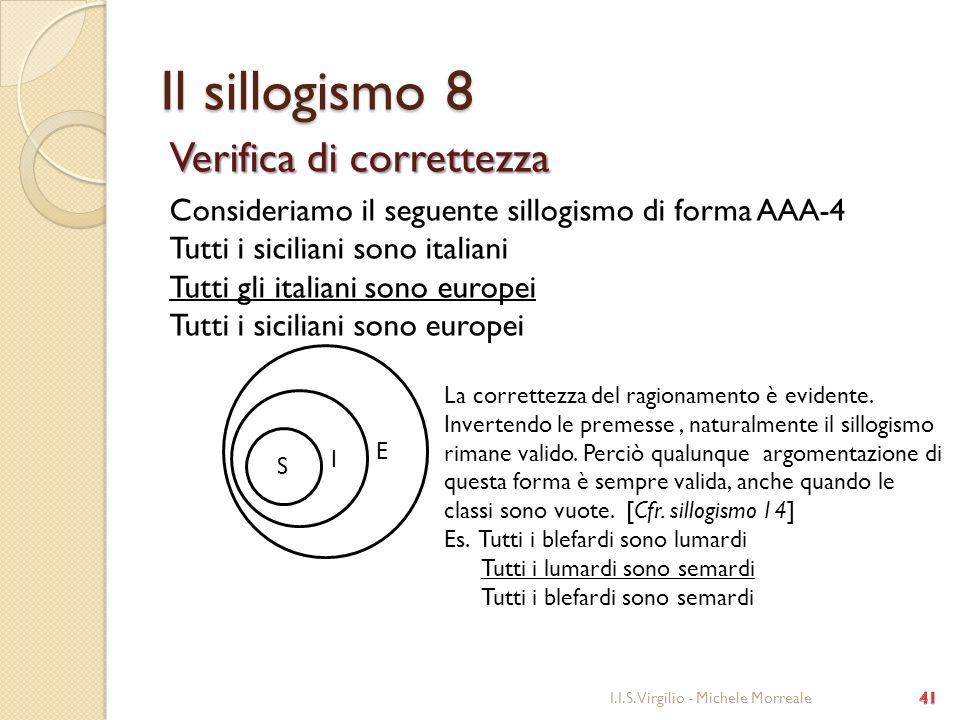 Il sillogismo 8 Verifica di correttezza
