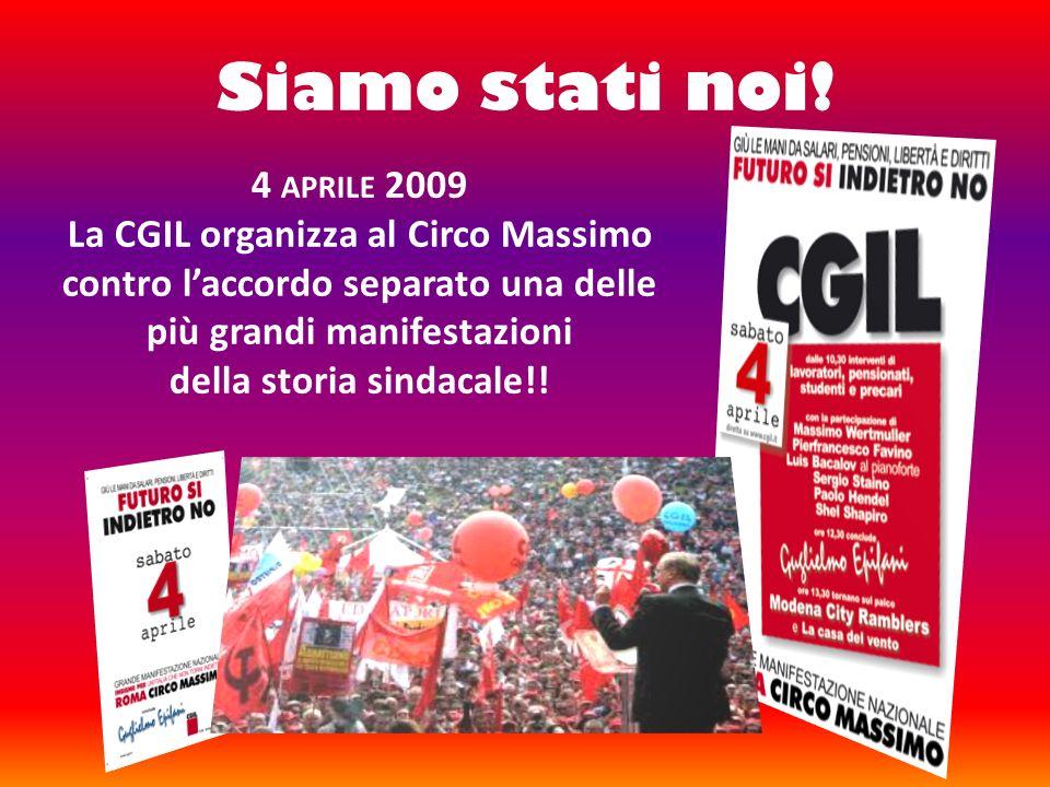 della storia sindacale!!