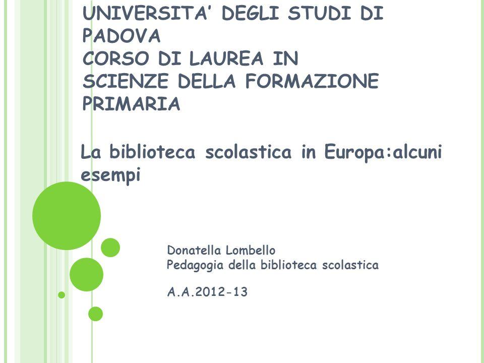 La biblioteca scolastica in Europa:alcuni esempi