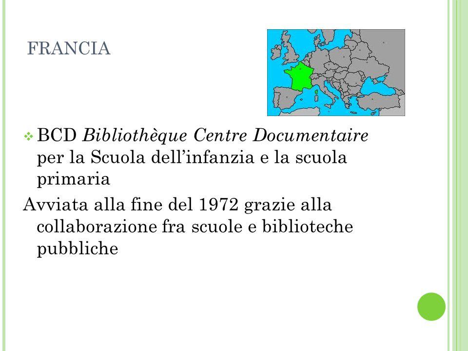 FRANCIA BCD Bibliothèque Centre Documentaire per la Scuola dell'infanzia e la scuola primaria.