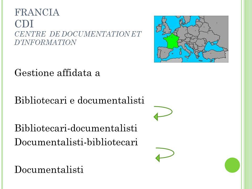 Bibliotecari e documentalisti Bibliotecari-documentalisti