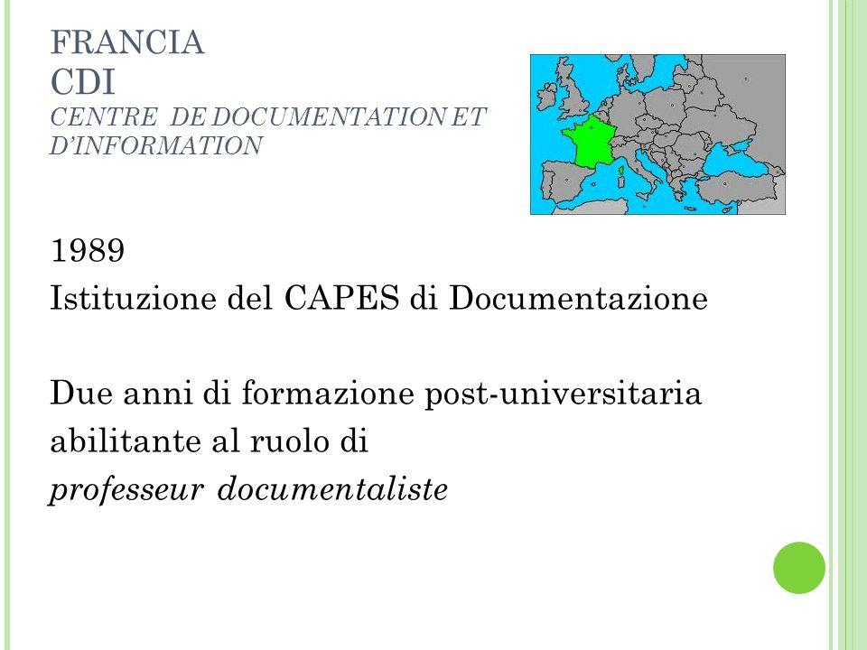 Istituzione del CAPES di Documentazione