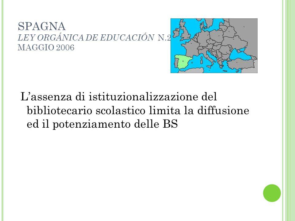 SPAGNA LEY ORGÁNICA DE EDUCACIÓN N.2 MAGGIO 2006