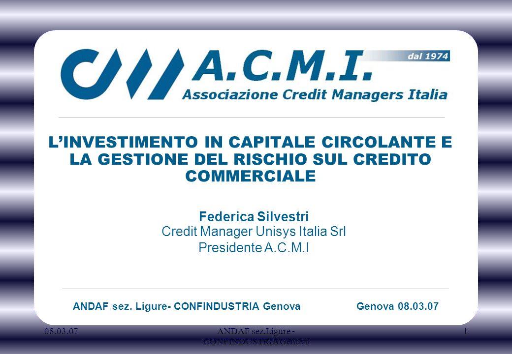 ANDAF sez. Ligure- CONFINDUSTRIA Genova Genova 08.03.07