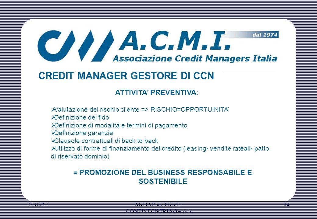 = PROMOZIONE DEL BUSINESS RESPONSABILE E SOSTENIBILE
