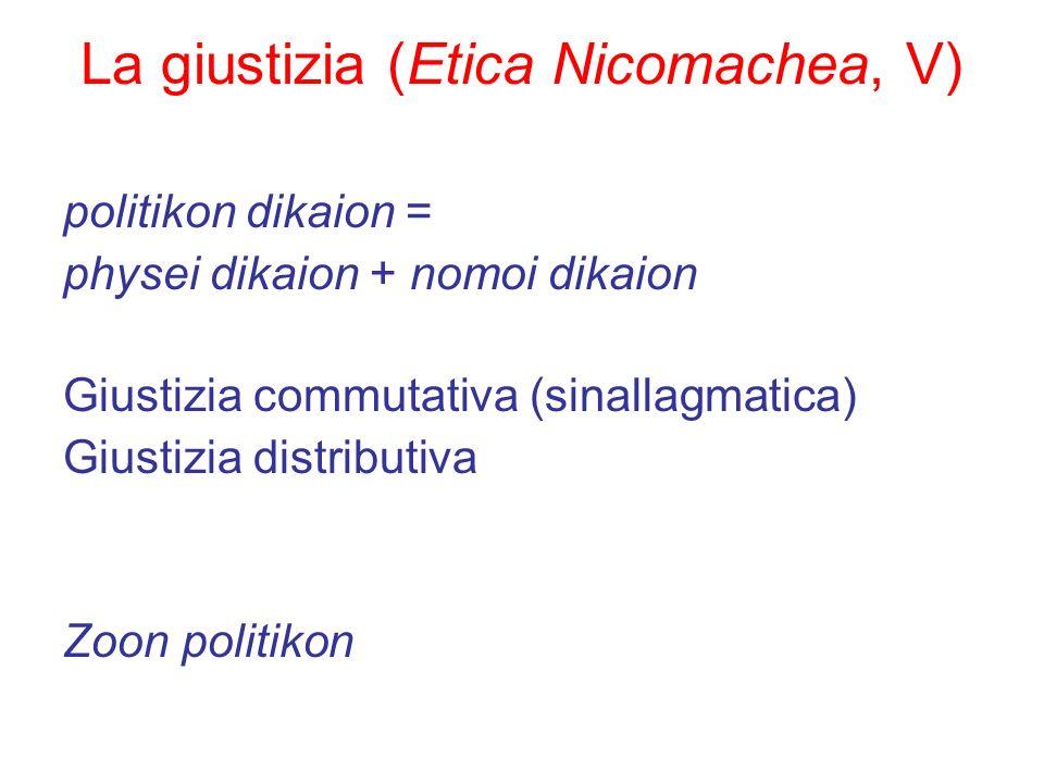 La giustizia (Etica Nicomachea, V)