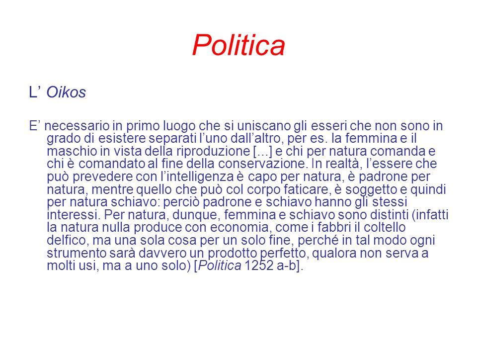 Politica L' Oikos.