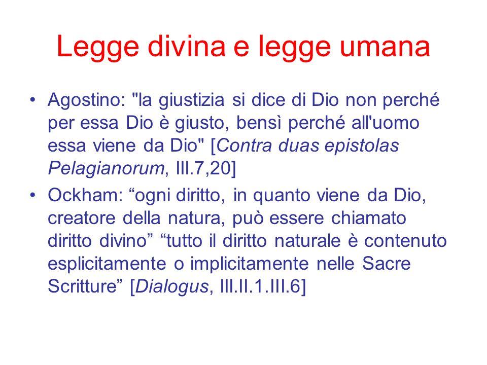 Legge divina e legge umana