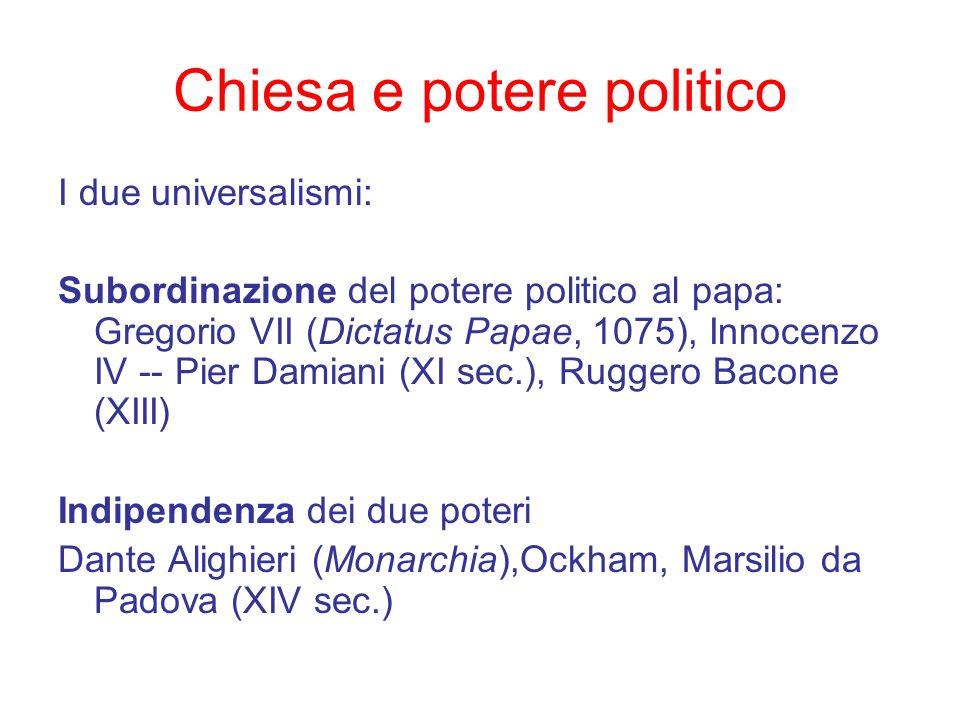 Chiesa e potere politico