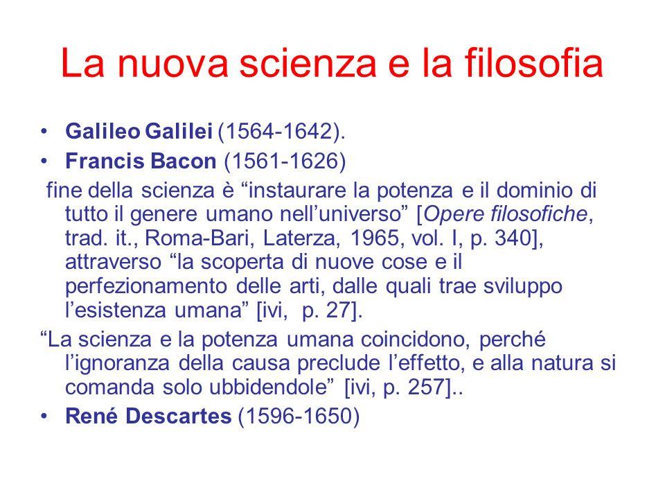 La nuova scienza e la filosofia