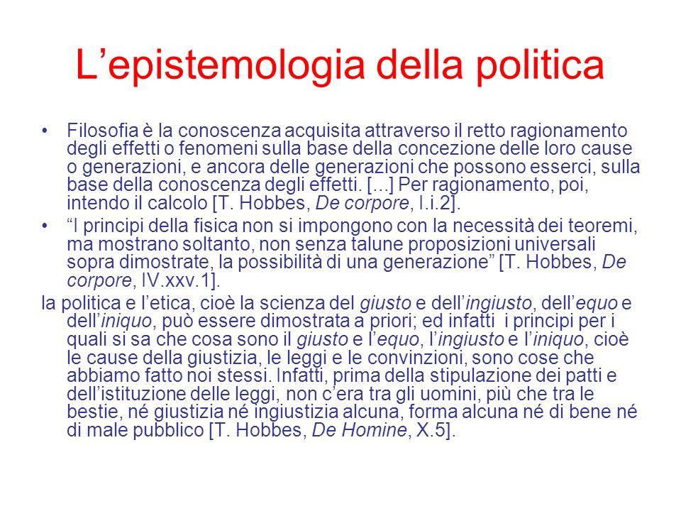 L'epistemologia della politica