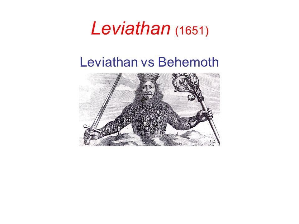 Leviathan (1651) Leviathan vs Behemoth
