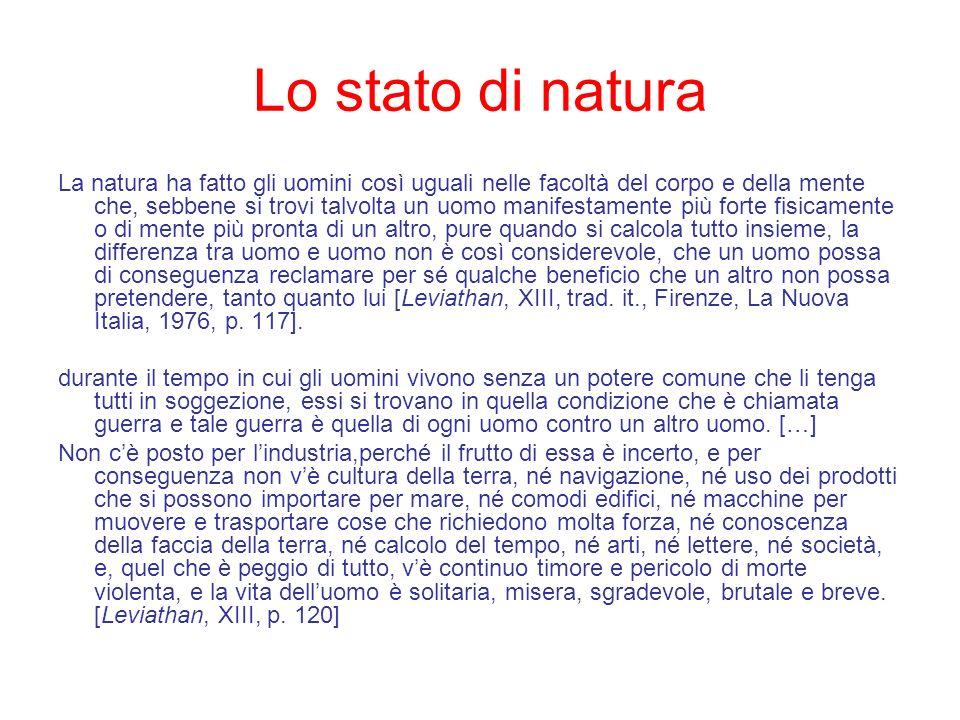 Lo stato di natura