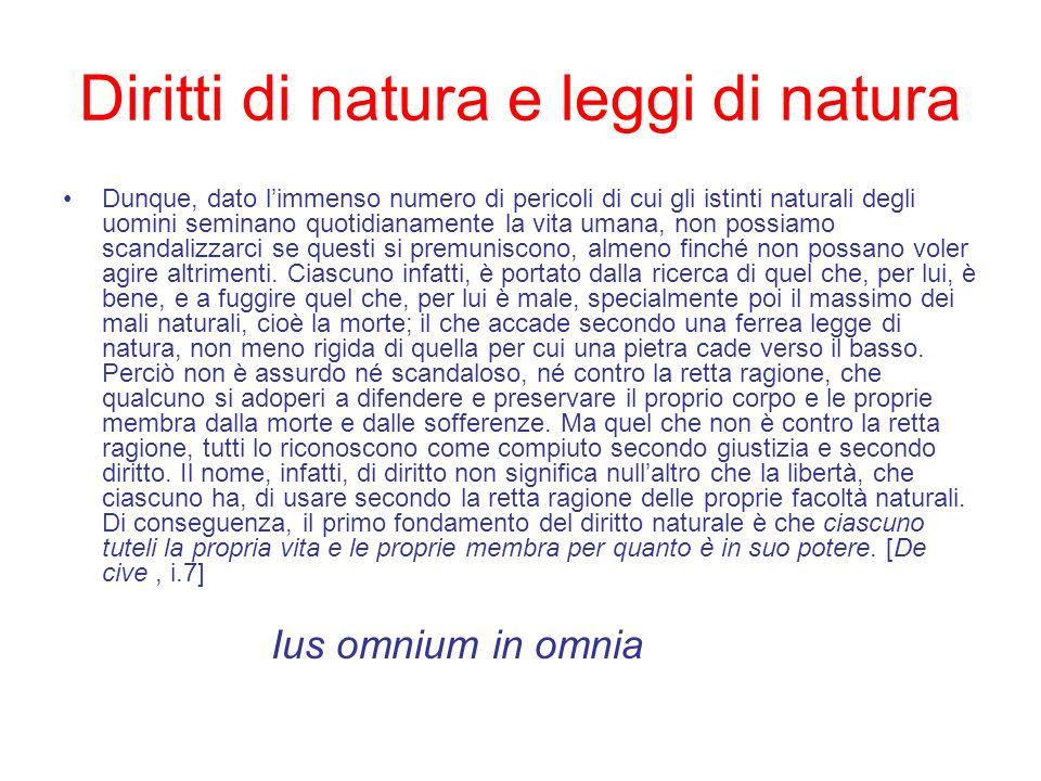 Diritti di natura e leggi di natura