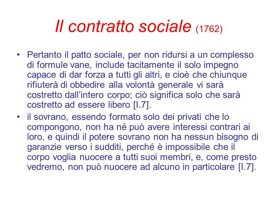 Il contratto sociale (1762)