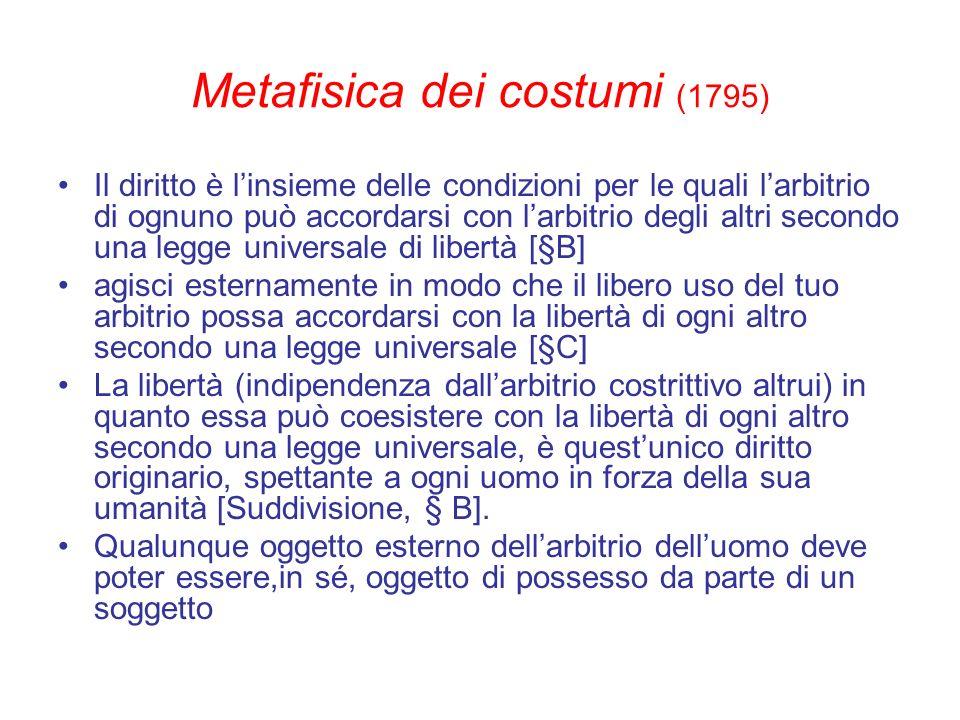 Metafisica dei costumi (1795)