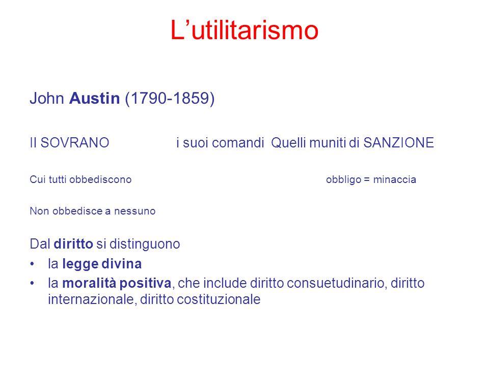 L'utilitarismo John Austin (1790-1859)