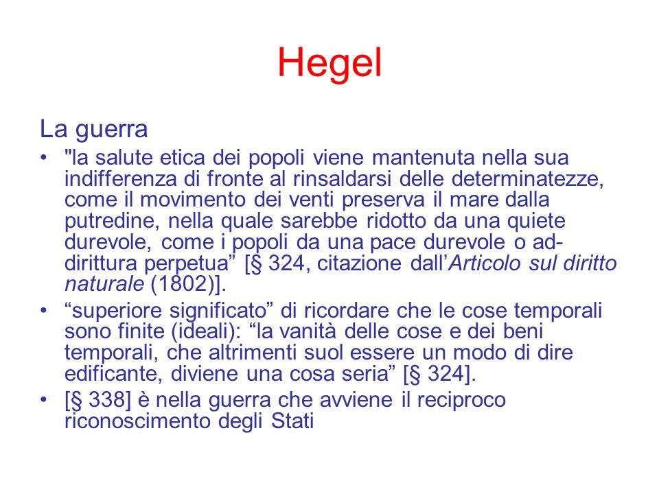 Hegel La guerra.