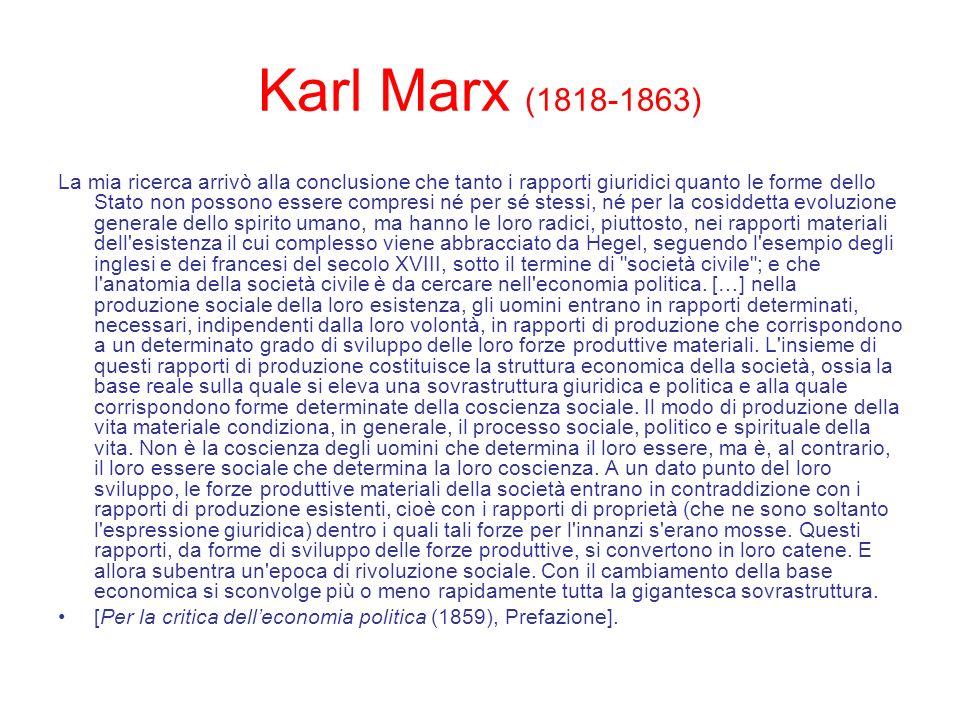 Karl Marx (1818-1863)