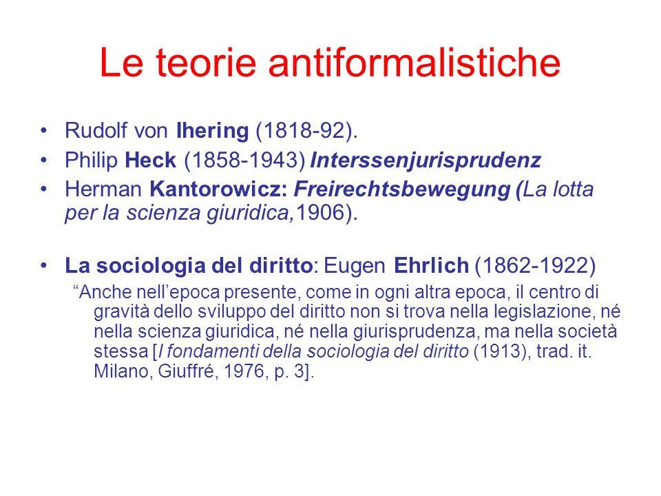 Le teorie antiformalistiche