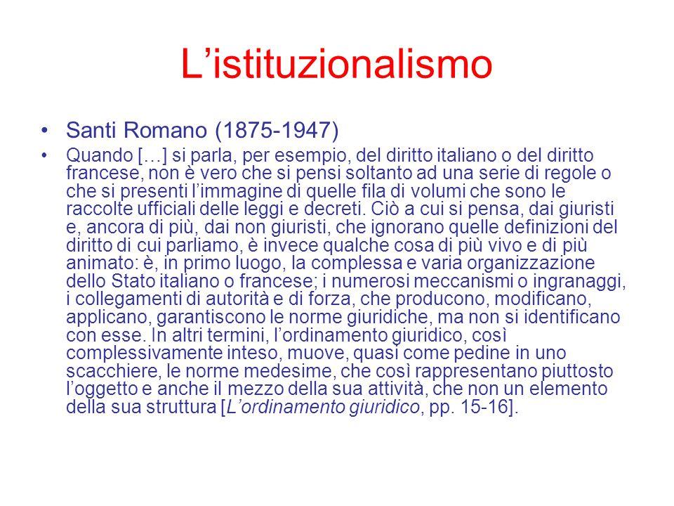 L'istituzionalismo Santi Romano (1875-1947)
