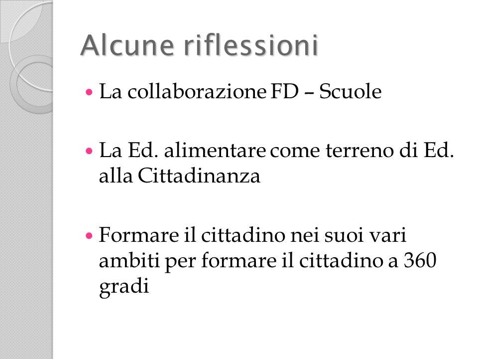Alcune riflessioni La collaborazione FD – Scuole