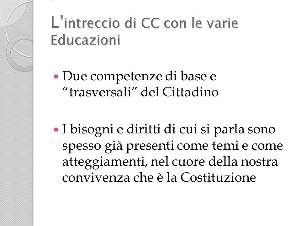 ' L'intreccio di CC con le varie Educazioni