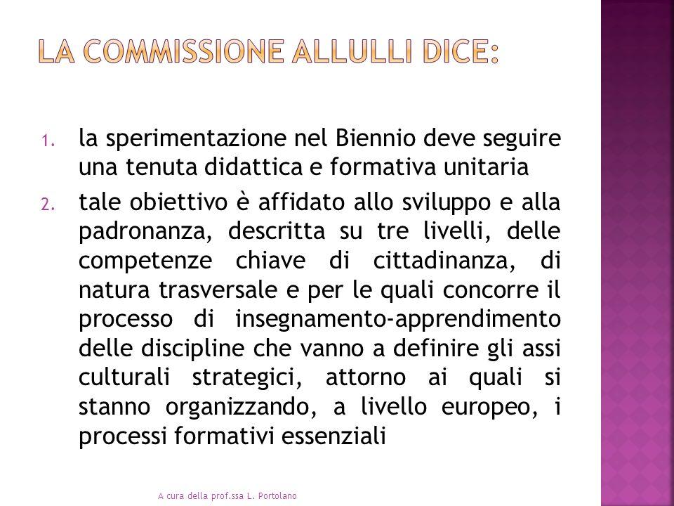 . La commissione Allulli dice: