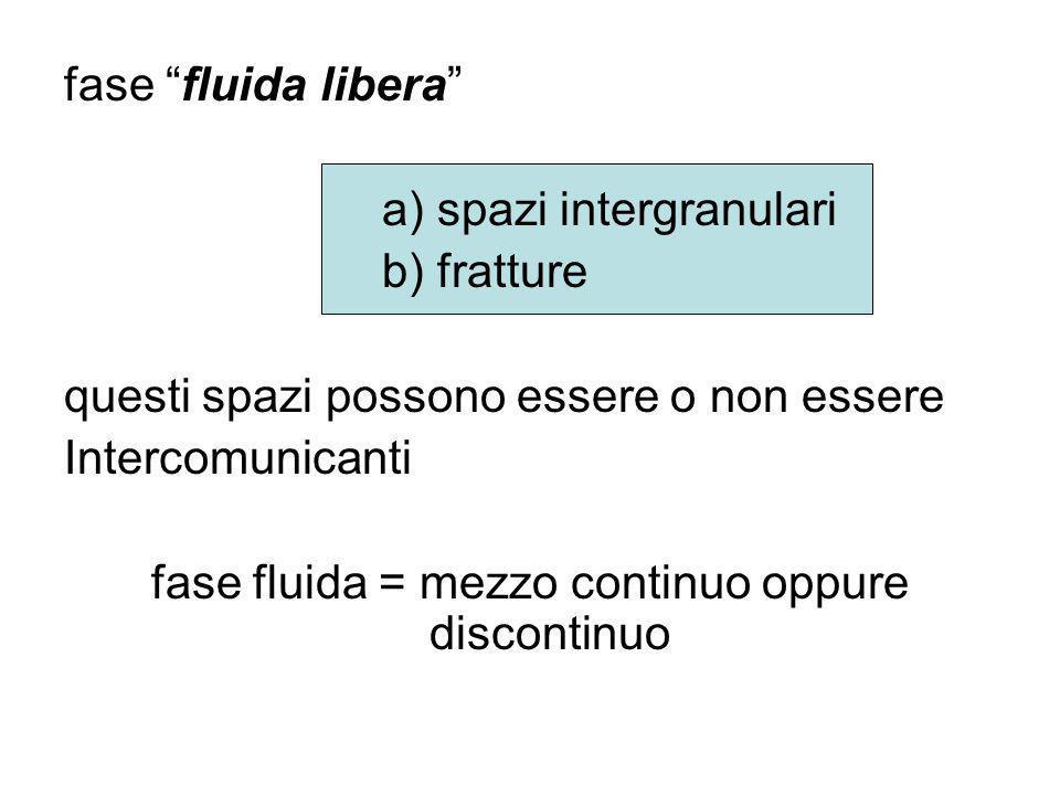 fase fluida = mezzo continuo oppure discontinuo