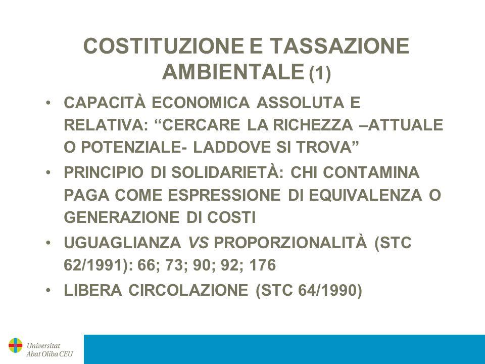 COSTITUZIONE E TASSAZIONE AMBIENTALE (1)