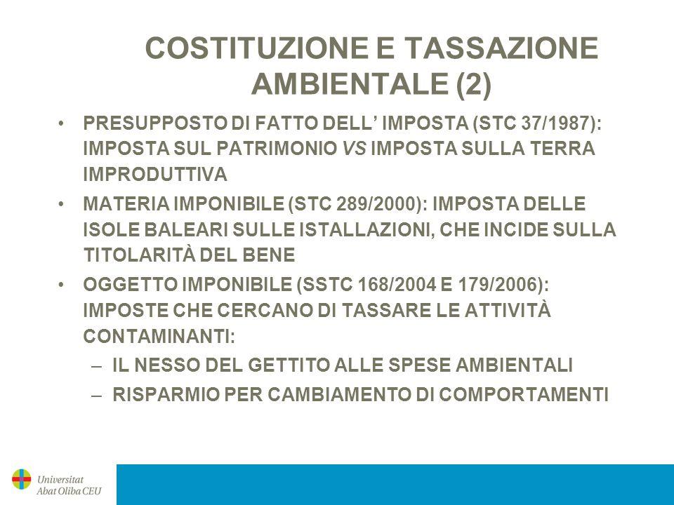 COSTITUZIONE E TASSAZIONE AMBIENTALE (2)