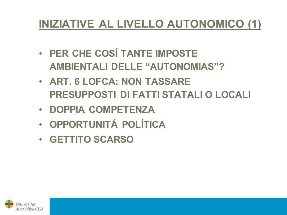 INIZIATIVE AL LIVELLO AUTONOMICO (1)