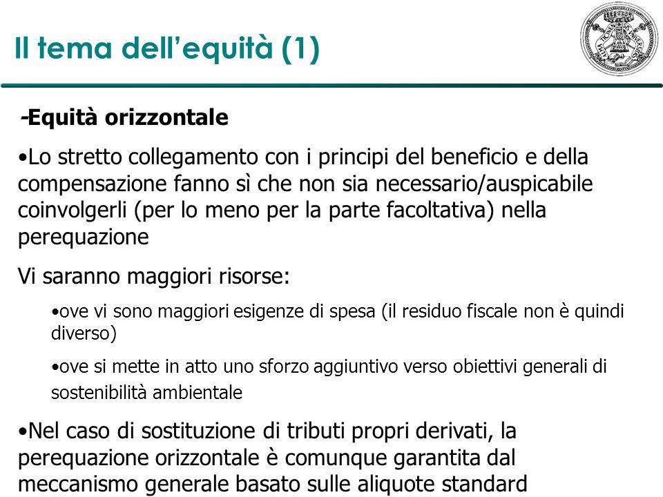 Il tema dell'equità (1) -Equità orizzontale